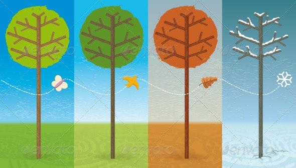 Four Seasons: Spring, Summer, Autumn, Winter - Seasons Nature