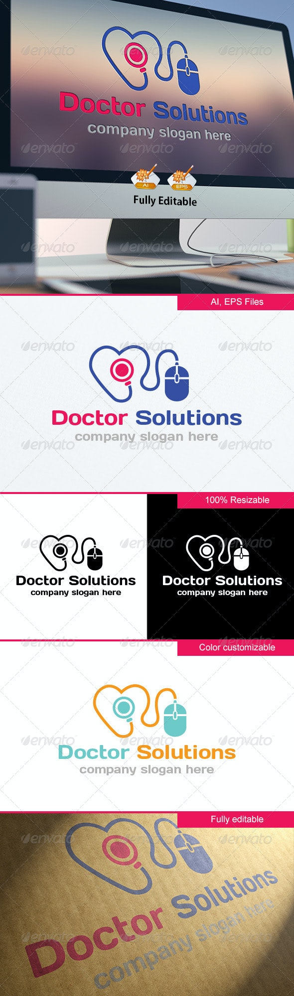 Doctor Solutions Logo - Objects Logo Templates
