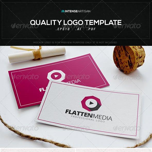 Flatten Media Logo Template