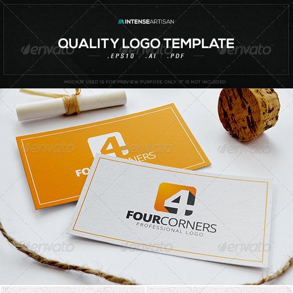 Four Corners Logo Template