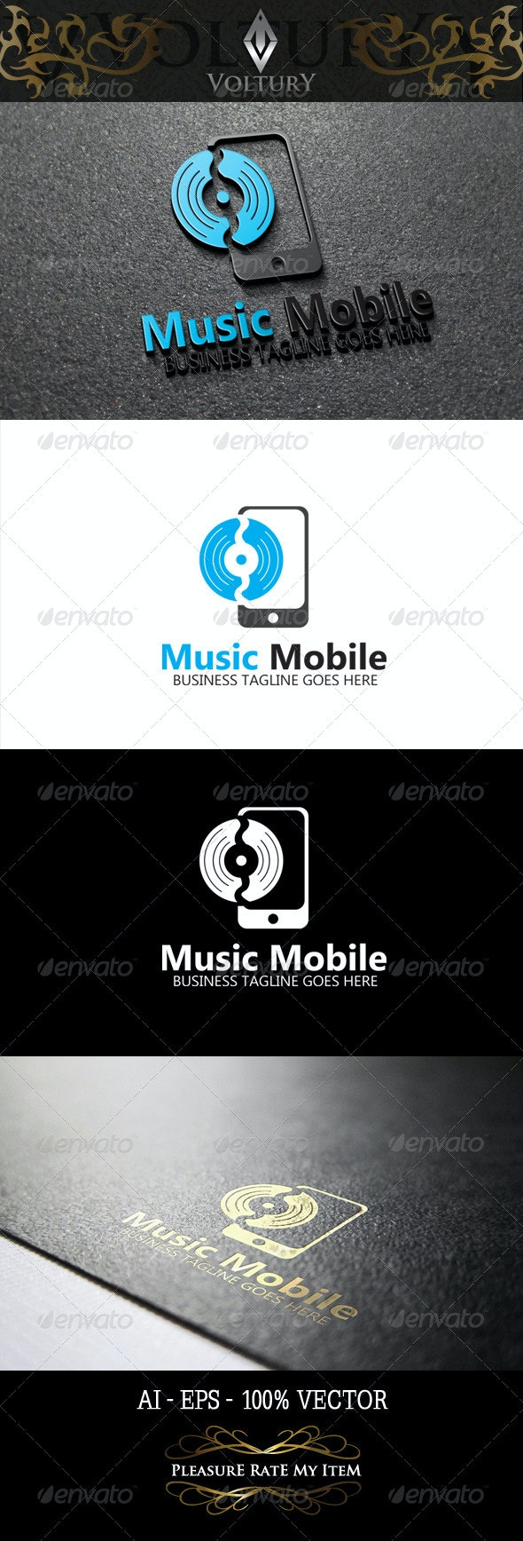 Music Mobile Logo - Objects Logo Templates