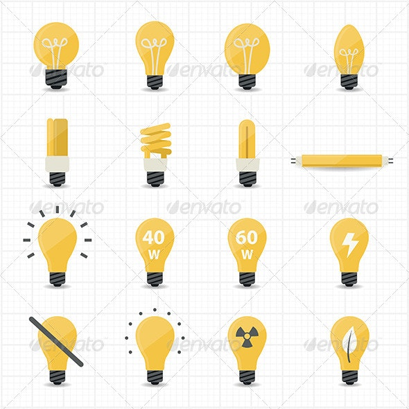 Light Bulb Icons - Objects Icons