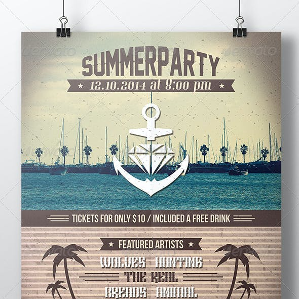 Summer Party Poster Flyer