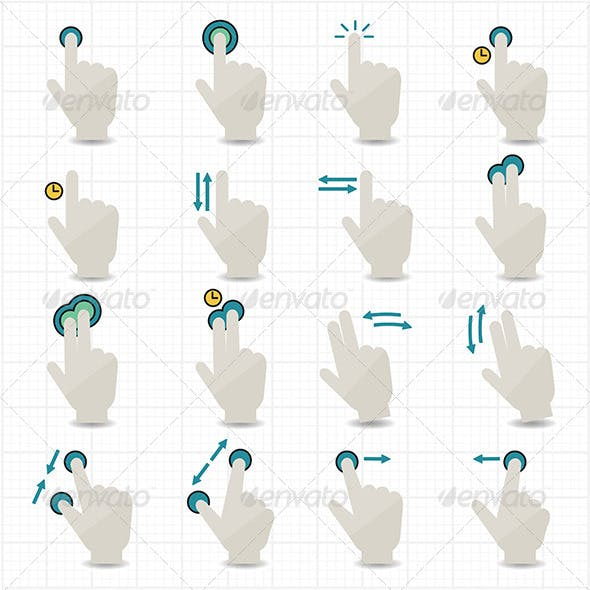 Touch Gestures and Hand Icons
