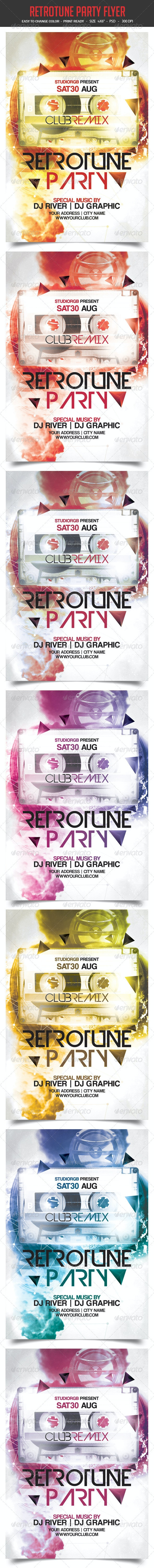 Retro Tune Party Flyer - Clubs & Parties Events