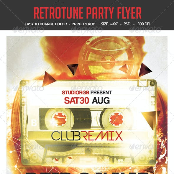 Retro Tune Party Flyer