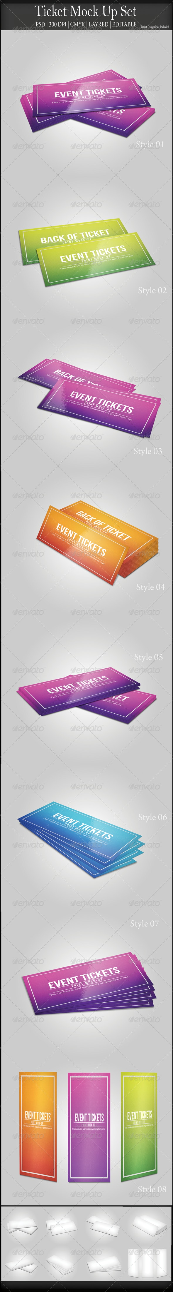 Ticket Mock Up - Miscellaneous Print