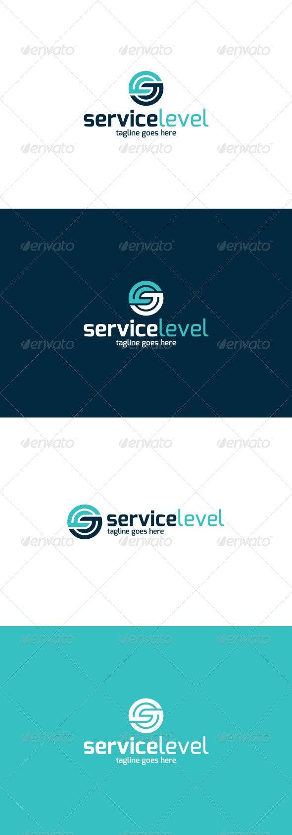 Service Level Logo — Letter S - Letters Logo Templates
