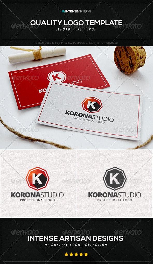 Korona Studio Logo Template - Letters Logo Templates