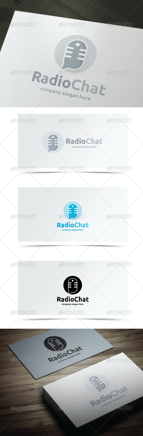 Radio Chat - Objects Logo Templates