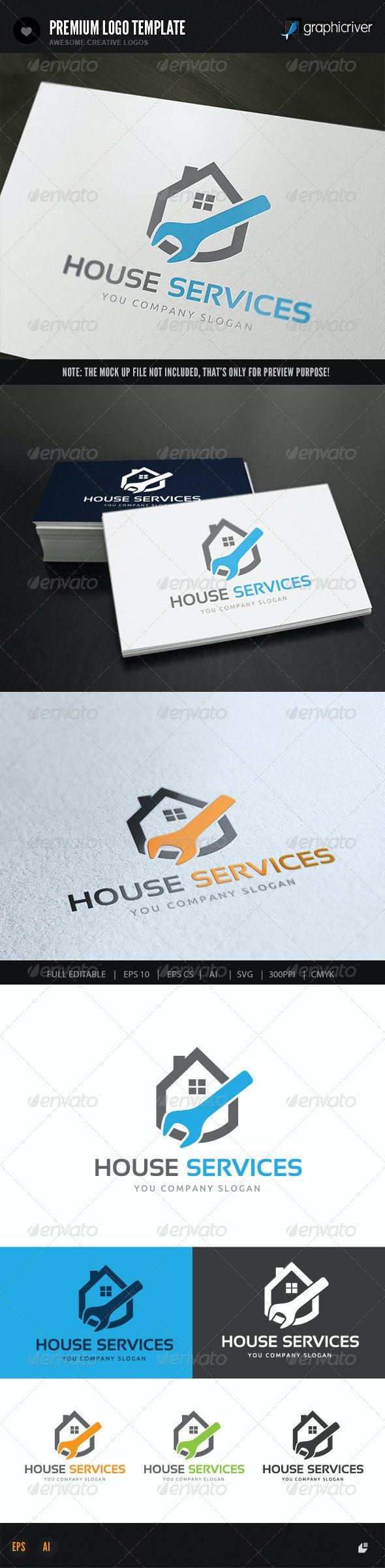 House Services - Buildings Logo Templates