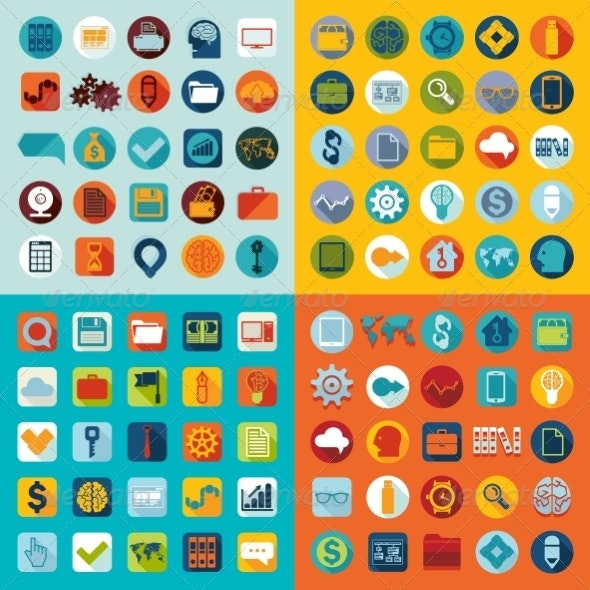 Set of Flat Icons - Abstract Conceptual