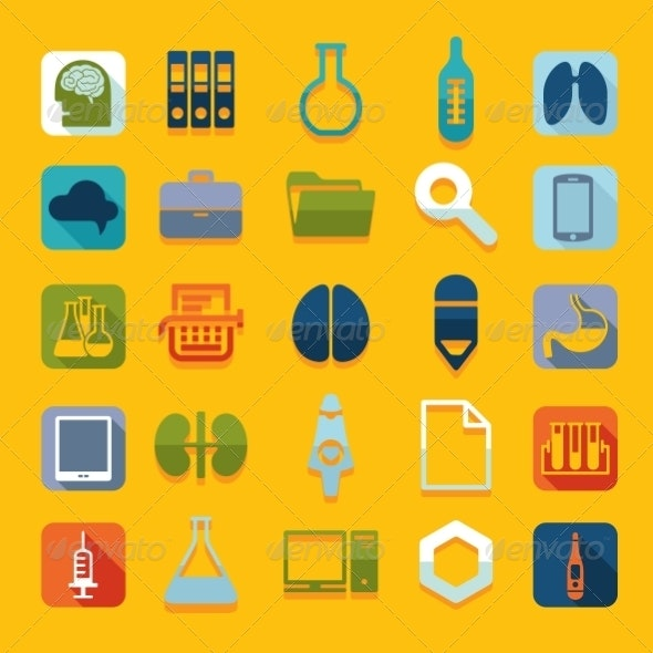 Set of Medical Flat Icons - Abstract Conceptual