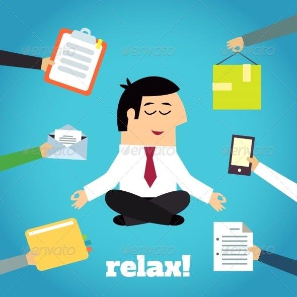 Businessman Yoga Relaxing