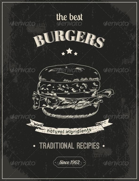 Hamburger Poster - Backgrounds Decorative