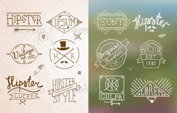 Hipster Vintage Emblem - Decorative Symbols Decorative
