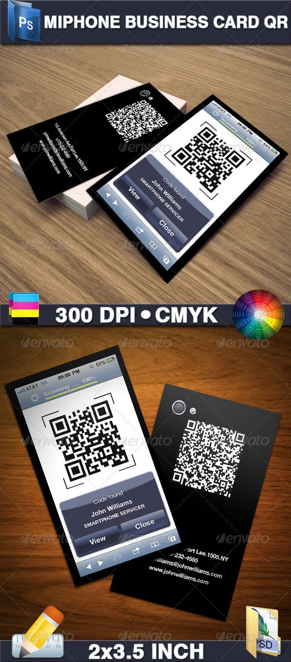 Miphone Business Card QR - Creative Business Cards