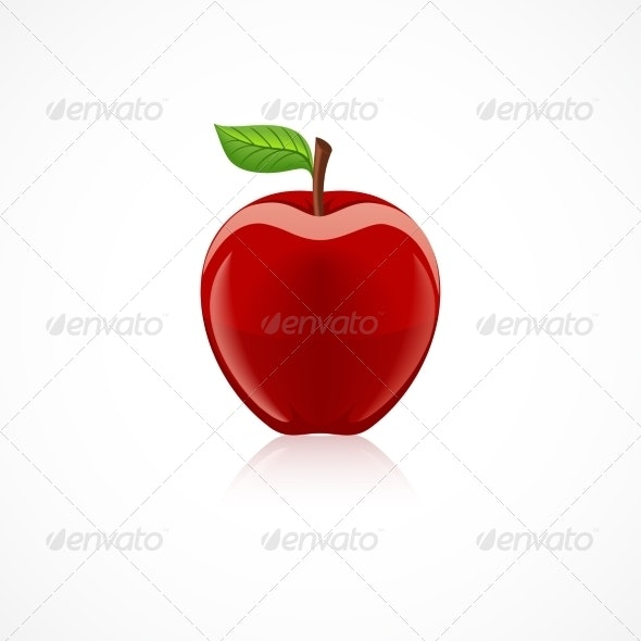 Apple Fruit Icon - Food Objects