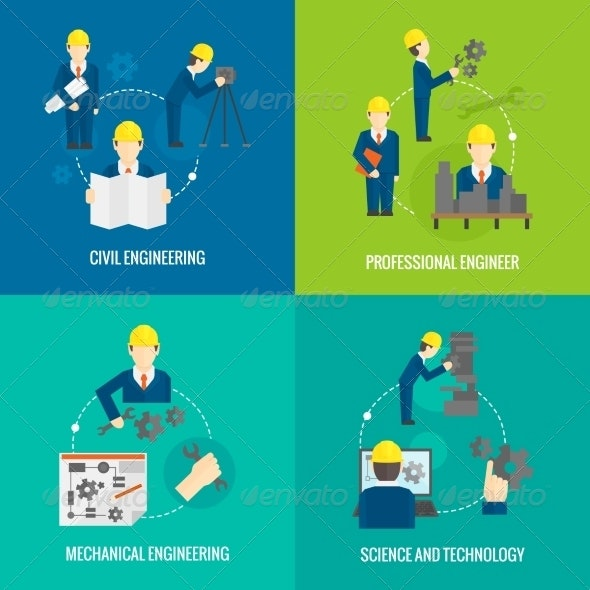 Set of Engineering Compositions - Industries Business