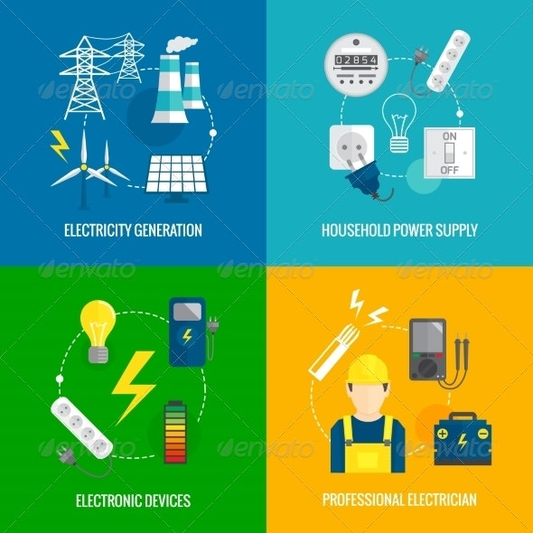 Electricity Energy Concept - Industries Business