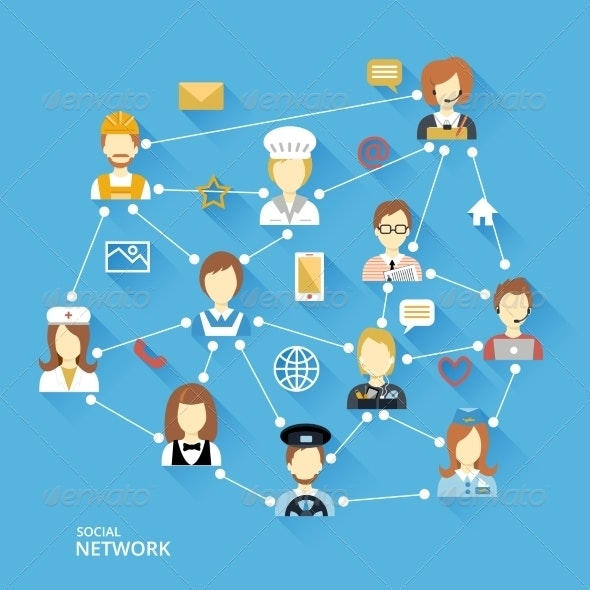 Global Professional Network Concept - Communications Technology