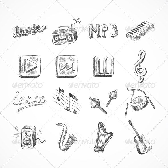 Set of Music Icons - Miscellaneous Vectors