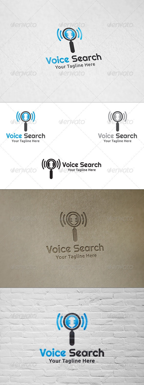 Voice Search - Logo Template - Objects Logo Templates