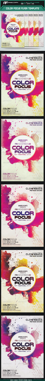 Color Focus Flyer Template - Clubs & Parties Events