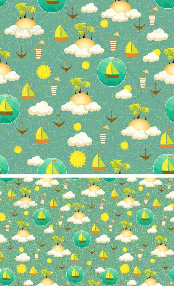 Palm Island Pattern - Patterns Decorative