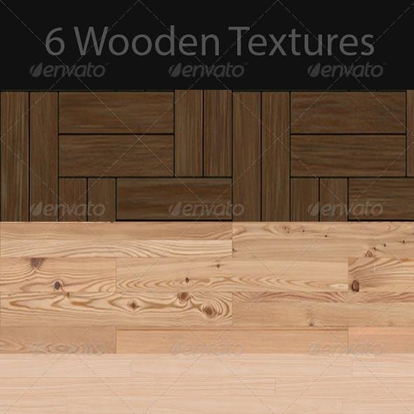 6 Seamless Photo-Realistic Wood Textures 72DPI