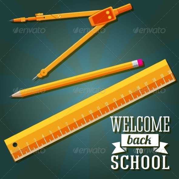 Welcome Back to School Greeting Card  - Miscellaneous Conceptual