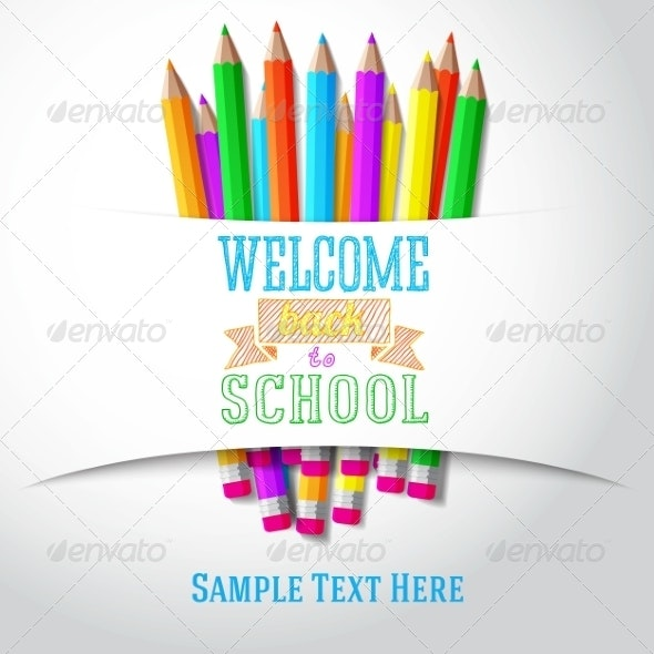 Welcome Back to School Hand-Drawn Greeting - Miscellaneous Conceptual