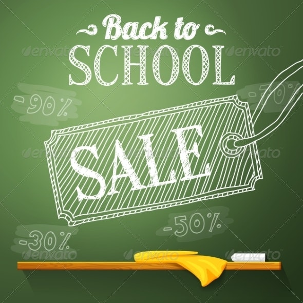 Back to School Sale on the Chalkboard - Miscellaneous Conceptual