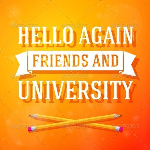 University Greeting - Miscellaneous Conceptual