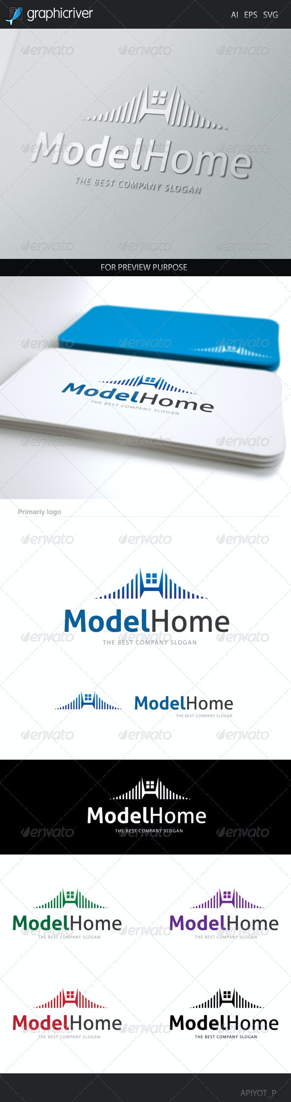 Model Home Logo - Letters Logo Templates