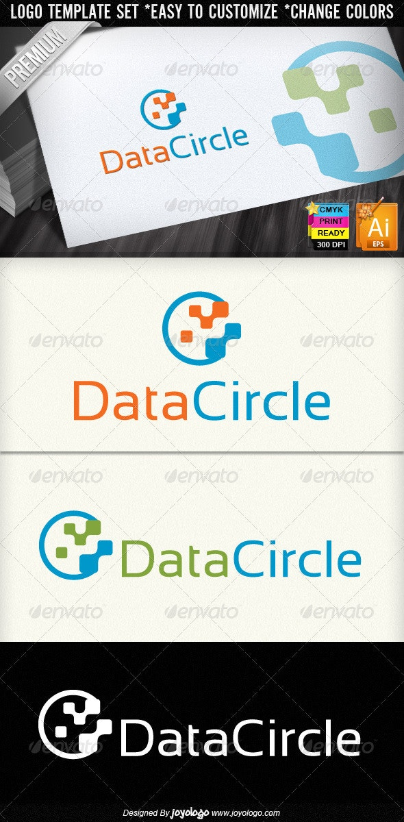Data Circle Abstract Digital Technology Logo - Objects Logo Templates