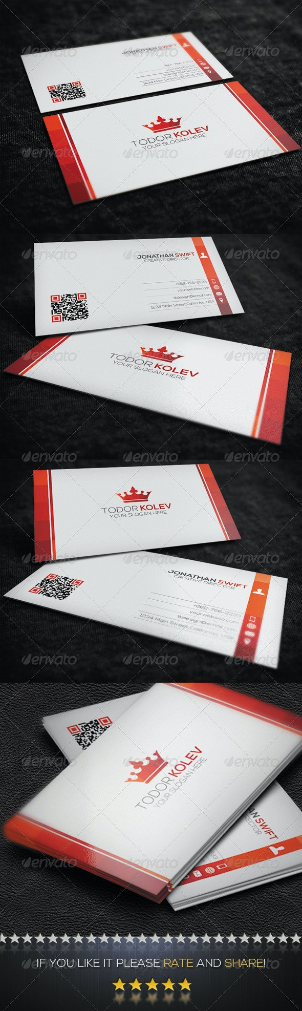 Clean Corporate Business Card  No.02 - Corporate Business Cards