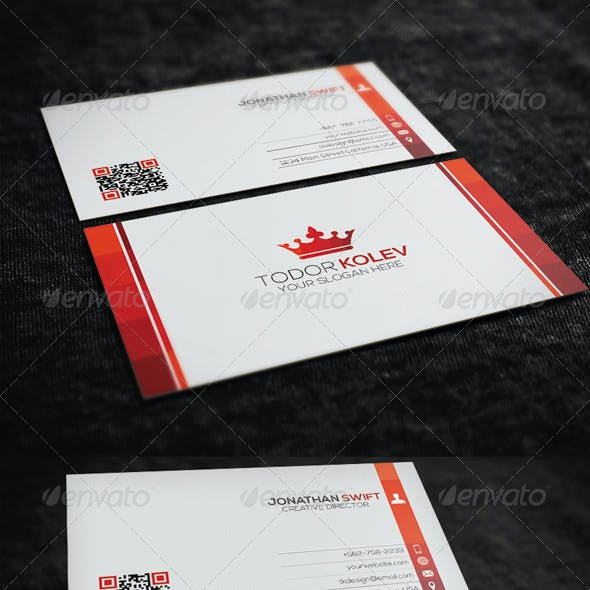 Clean Corporate Business Card  No.02