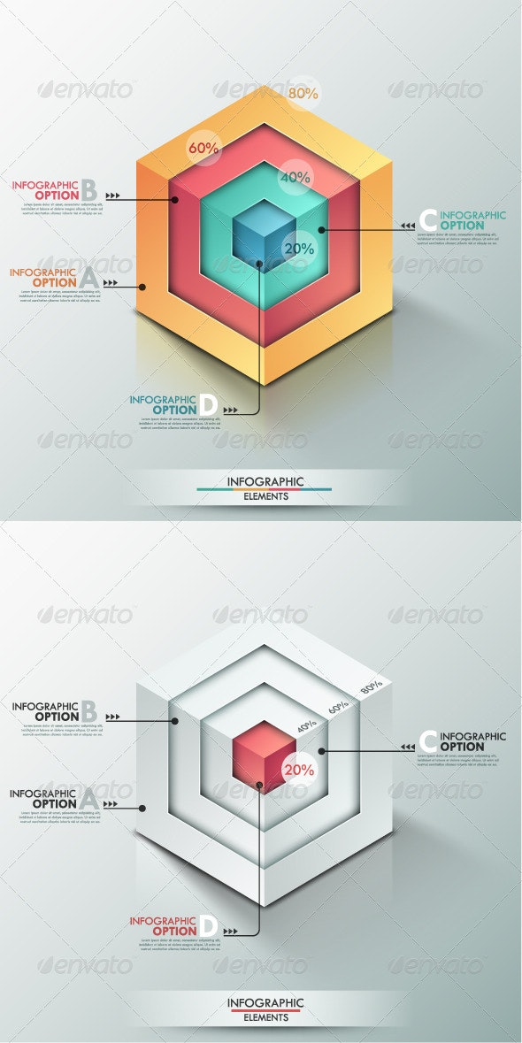 Modern Infographic Options Banner (2 Versions) - Infographics