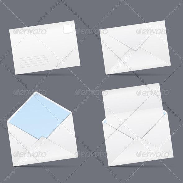 Envelopes - Objects Vectors