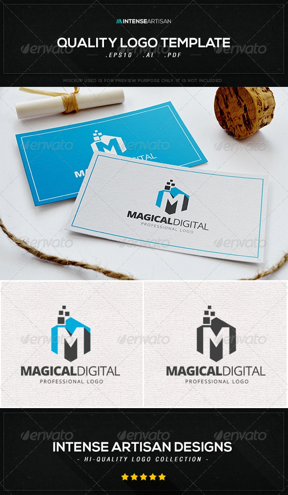 Magical Digital Logo Template - Letters Logo Templates
