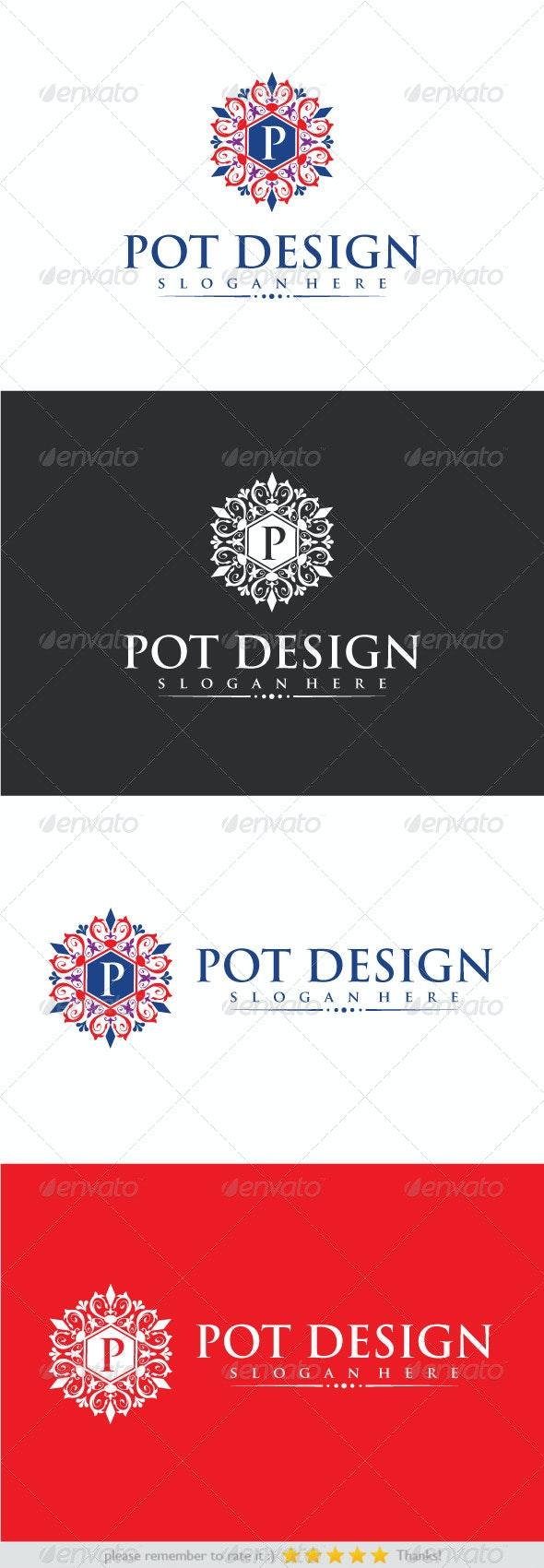 Pot Design - Crests Logo Templates