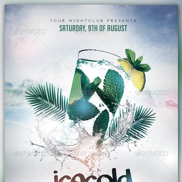 Icecold Cocktail Flyer