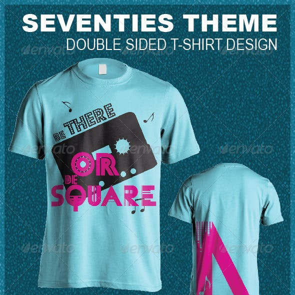 Be There Or Be Square - Seventies T-Shirt Design