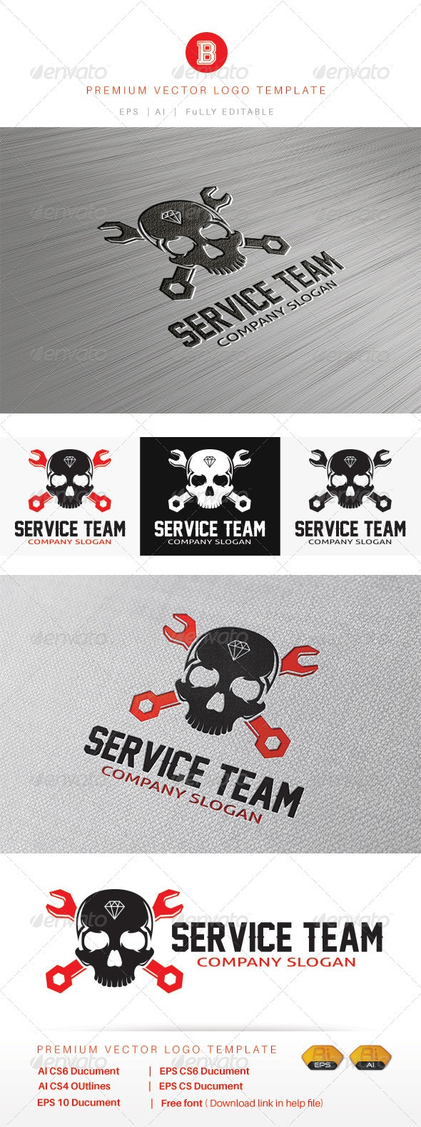 Service Team - Humans Logo Templates