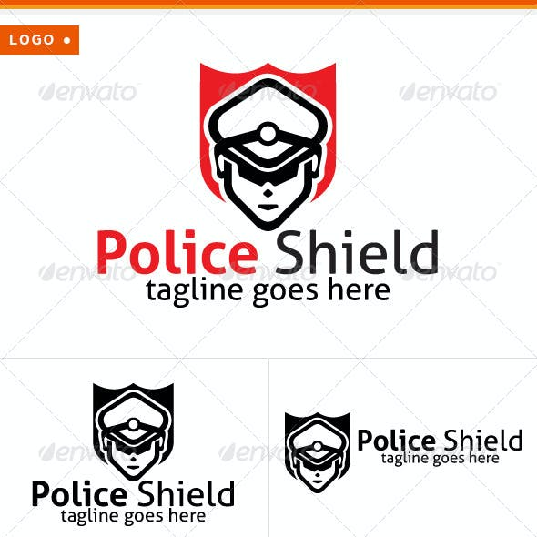 Police & Shield Logo