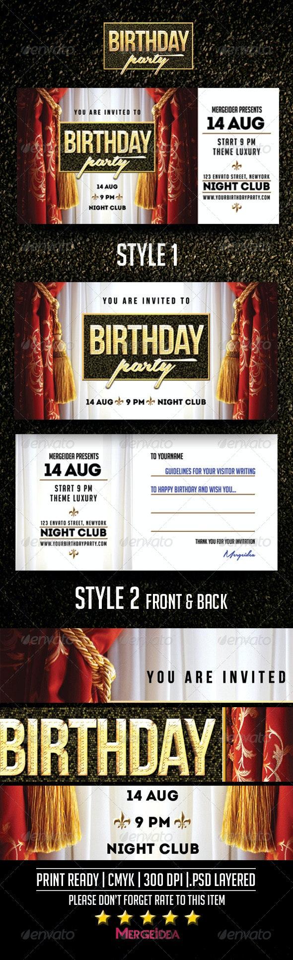 Birthday Party Invitation - Invitations Cards & Invites