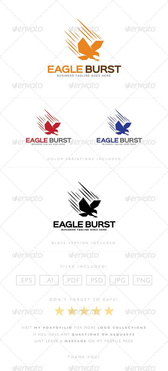 Eagle Burst Logo - Animals Logo Templates