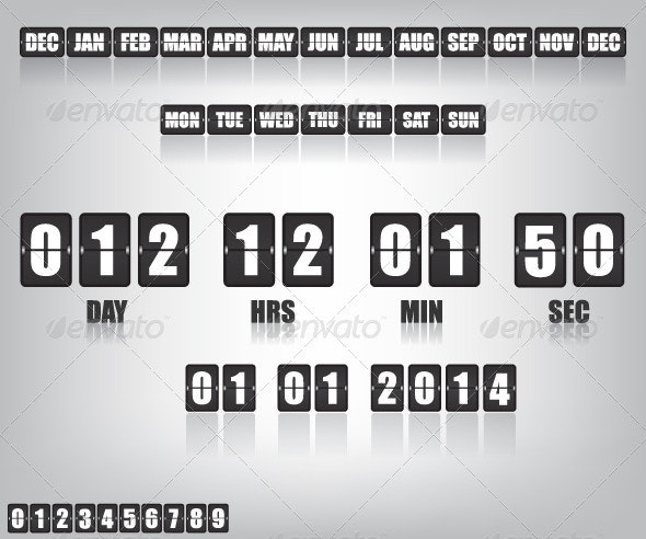 Countdown Timer and Date - Technology Conceptual