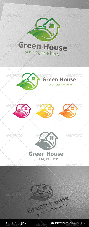 Green House Home Property Logo - Nature Logo Templates